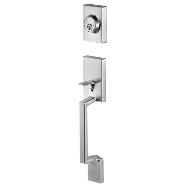 Sure-Loc Stockholm Front Door Stainless Steel Handle Set with Interior Lever (As Is Item)