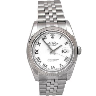 Pre-owned 36mm Rolex Datejust Stainless Steel Watch