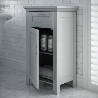 RiverRidge Somerset Collection Grey MDF Single-door Floor Cabinet