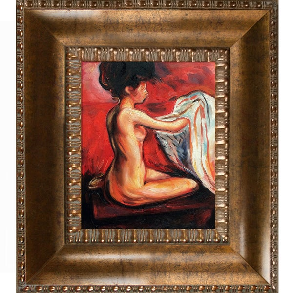 Edvard Munch 'Paris Nude' Hand Painted Framed Canvas Art 19383563