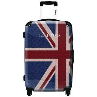 iKase Lollipops London Blue Flag 20-inch Fashion Hardside Carry-on Upright Suitcase