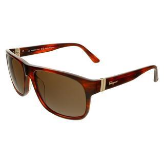 Salvatore Ferragamo SF639S Striped Brown Sunglasses
