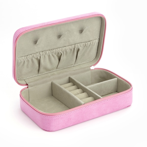 Royce Travel Jewelry Storage Case in Pink Leather in Support of Breast Cancer Research and Support