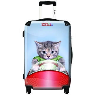 iKase Tabby is Racing 20-inch Fashion Hardside Carry-on Upright Suitcase