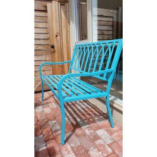 Main Street 35.5-inch Soho Blue Bench