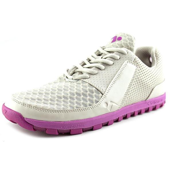 Tesh Women's 'Twitch 1.0' Grey Mesh Athletic Shoes
