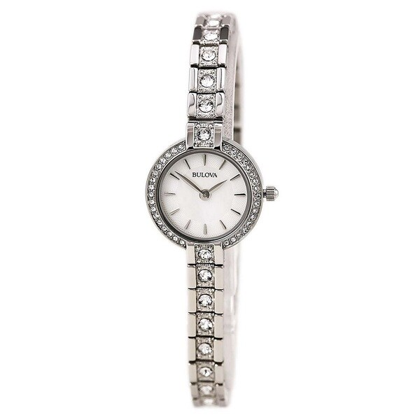 Bulova Women's 98L209 Stainless Steel Crystal Adorned Watch with 30M Water Resistance 19384676