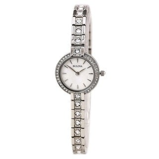 Bulova Women's 98L209 Stainless Steel Crystal Adorned Watch with 30M Water Resistance