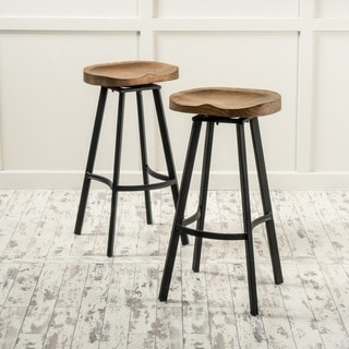 Albia 32-inch Swivel Barstool (Set of 2) by Christopher Knight Home
