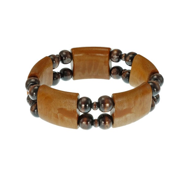 Jewelry by Dawn Brown Wood Bead Stretch Bracelet