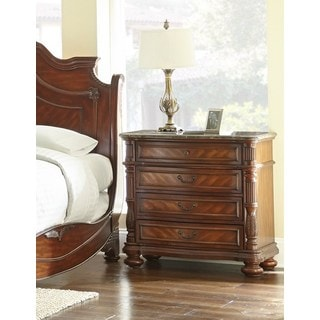 Lyke Home Alice Cherry Wood Nightstand