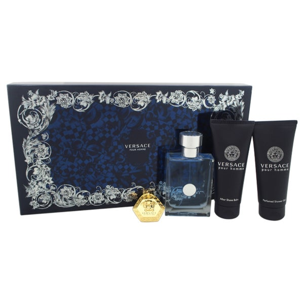Versace Pour Homme Men's 4-piece Gift Set