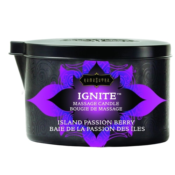 KamaSutra Ignite Island Passion Berry Massage Candle
