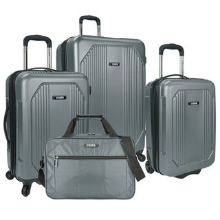 U.S. Traveler Blue ABS, Plastic Bloomington 4-piece Spinner Hardside, Softside Luggage Set
