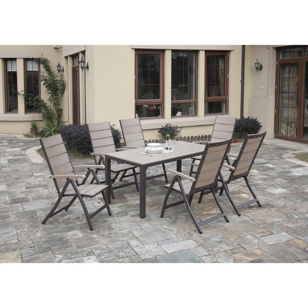 Aixas 7-piece Aluminium/Resin Patio Dining Set