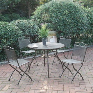 Prats 5-piece Brown Iron and Metal Patio Dining Set