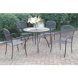 Domzale 5-piece Metal-finish Patio Dining Set