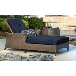 Hanover Outdoor GRAMERCY2PC-NVY Gramercy Two-piece Navy Blue Chaise Lounge Set