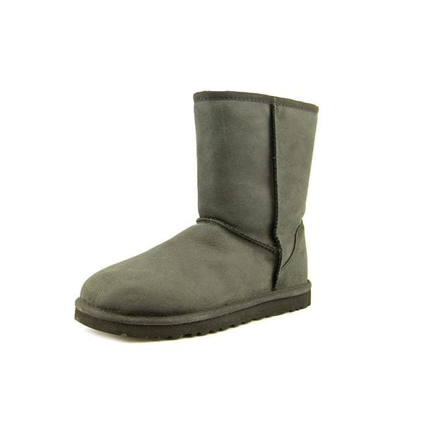 Ugg Australia Women's Classic Short Black Leather Boots