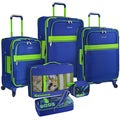 U.S. Traveler by Traveler's Choice Alamosa Two-Tone 6-Piece Expandable Spinner Luggage Set