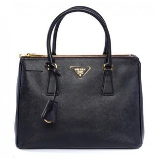 Prada Saffiano Leather Lux Tote - Black
