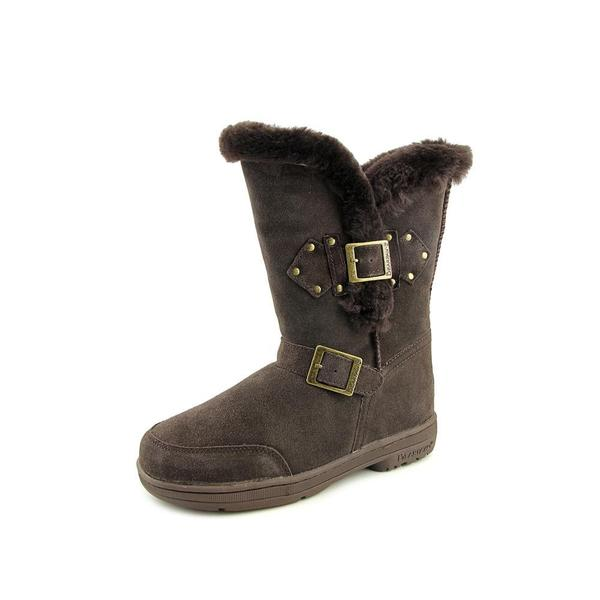 BearPaw Women's Madeline Brown Suede Ankle Boots