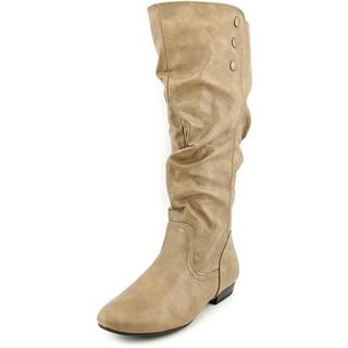 White Mountain Women's Fun House Brown Faux Leather Wide Calf Boots