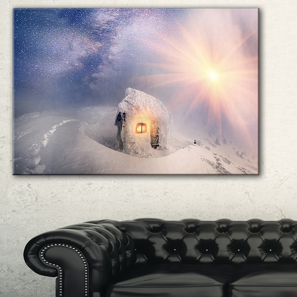 House of Rescuers Hoverla - Landscape Photo Canvas Art Print