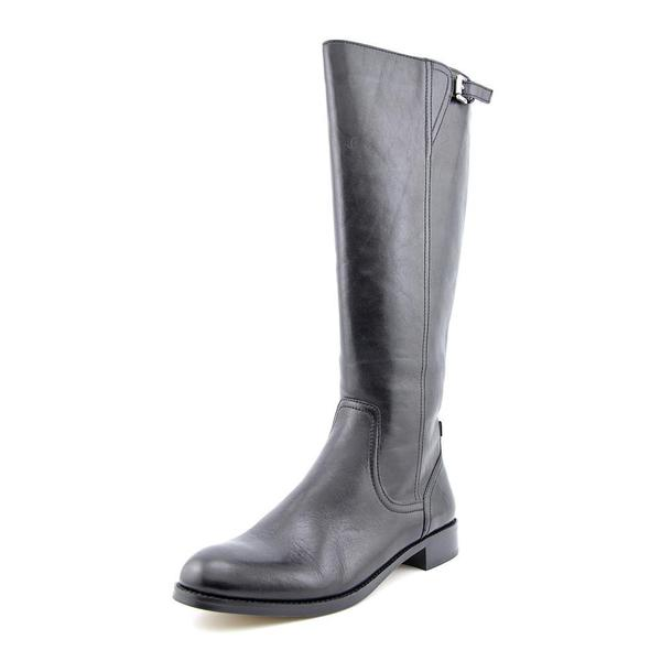 Coach Women's Mirriam Black Leather Knee-high Boots