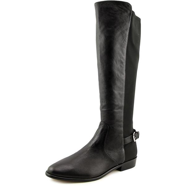Coach Women's Liza Black Leather Knee-high Boots