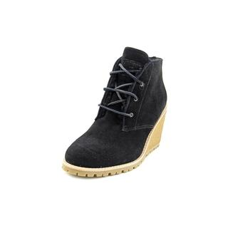 Coach Women's Karson Regular Black Suede Boots