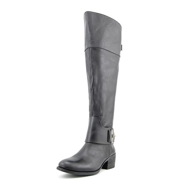 Vince Camuto Women's Beatrix Wide Calf Black Leather Boots