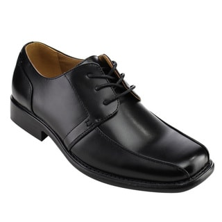 Arider Men's Black Faux Leather Oxford Shoes