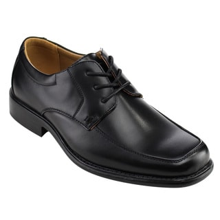 Arider Men's Black Faux Leather Oxfords