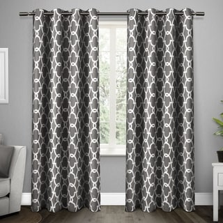 The Curated Nomad Duane Thermal Woven Blackout Grommet Top Curtain Panel Pair