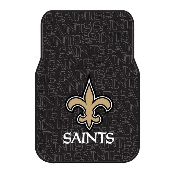 The Northwest Company NFL 343 Saints Black Debossed Rubber Car Front Floor Mat