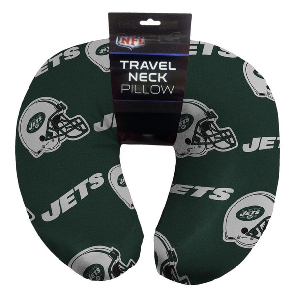 The Northwest Company NFL 117 Jets Beaded Travel Neck Pillow
