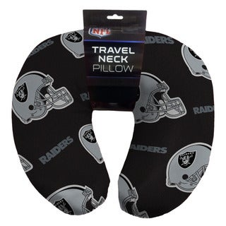 NFL 117 Oakland Raiders Beaded Neck Pillow