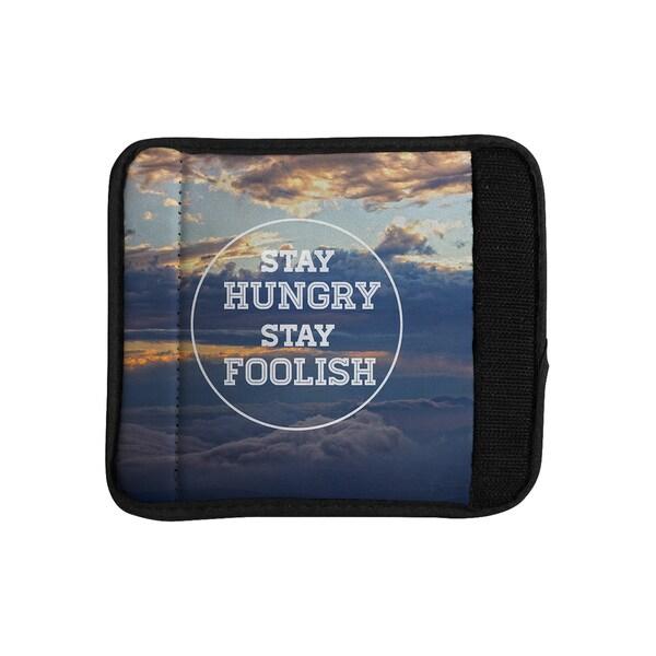 KESS InHouse Skye Zambrana 'Stay Hungry' Luggage Handle Wrap