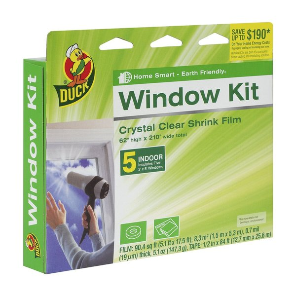 Duck Brand 281504 Indoor 62-inch x 210-inch 5-window Shrink Film Kit