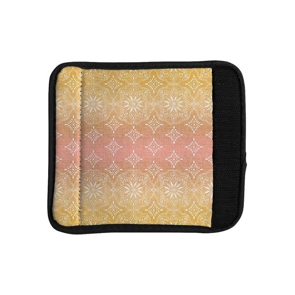 KESS InHouse Suzie Tremel 'Medallion Blush Ombre' Pink Luggage Handle Wrap