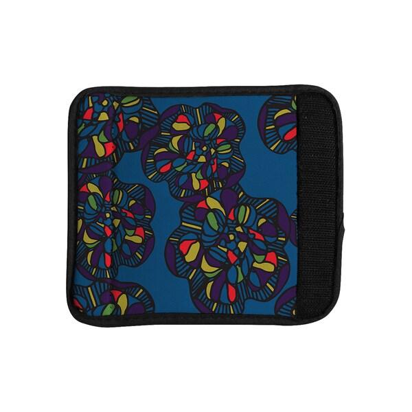 KESS InHouse Sonal Nathwani 'Mushroom Flower' Navy Pattern Luggage Handle Wrap