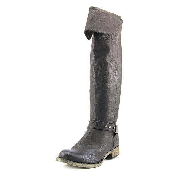 Rocket Dog Women's Cowell Black Faux Leather Boots