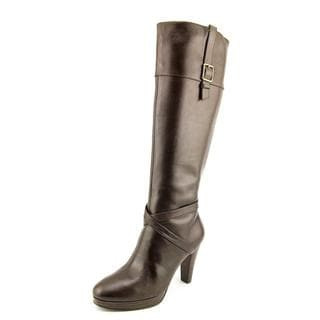 Cole Haan Women's Jericho.Tall.Boot.II Brown Leather Boots