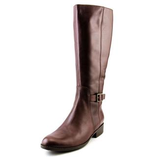 Cole Haan Women's Huntley Tall.Boot.WP Brown Leather Knee-high Boots