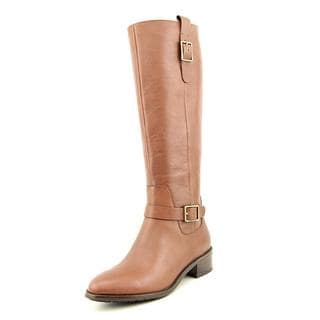 Cole Haan Women's Kenmare Brown Leather Riding Boots