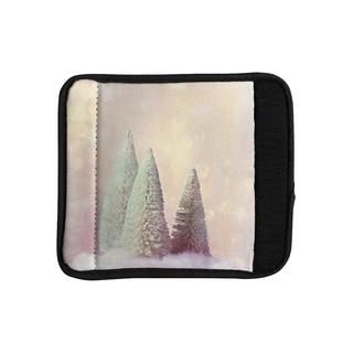 KESS InHouse Sylvia Cook 'Bottle Brush Trees' Pink Luggage Handle Wrap