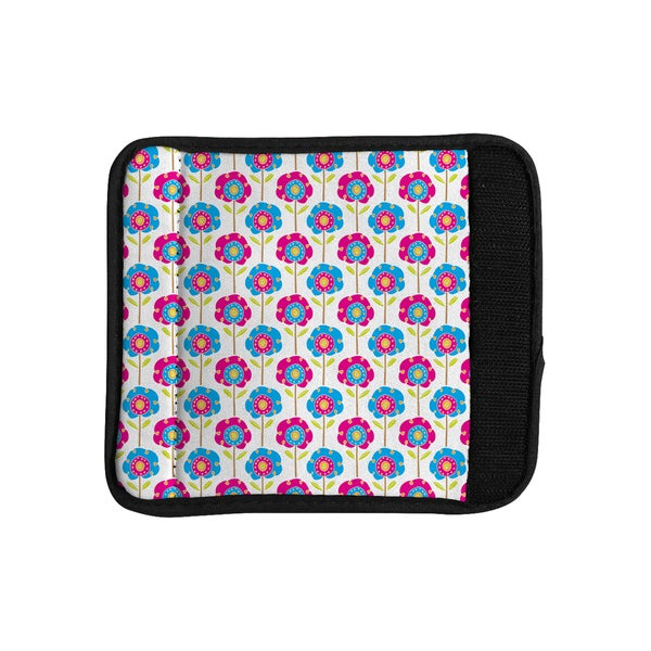 KESS InHouse Apple Kaur Designs 'Lolly Flowers' Blue Pink Luggage Handle Wrap