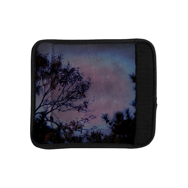 KESS InHouse Robin Dickinson 'Twilight' Purple Tree Luggage Handle Wrap