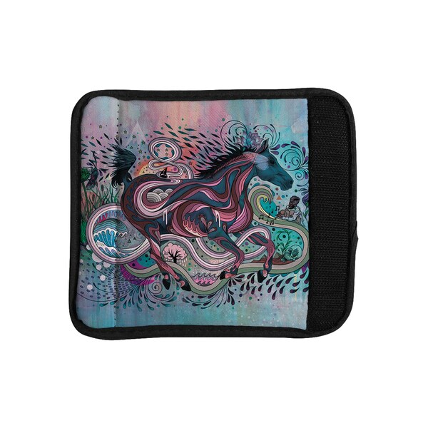 KESS InHouse Mat Miller 'Poetry in Motion' Luggage Handle Wrap